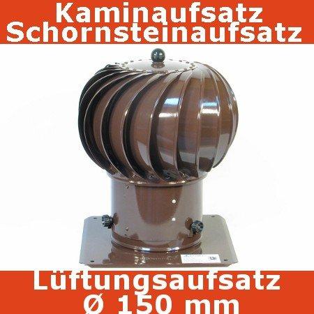 Turbo Kaminaufsatz Schornsteinaufsatz 150 mm braun