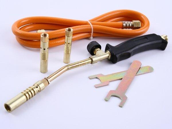 Handlötset 4 tlg. Lötbrenner Handlötgerät Gasbrenner + Adapter