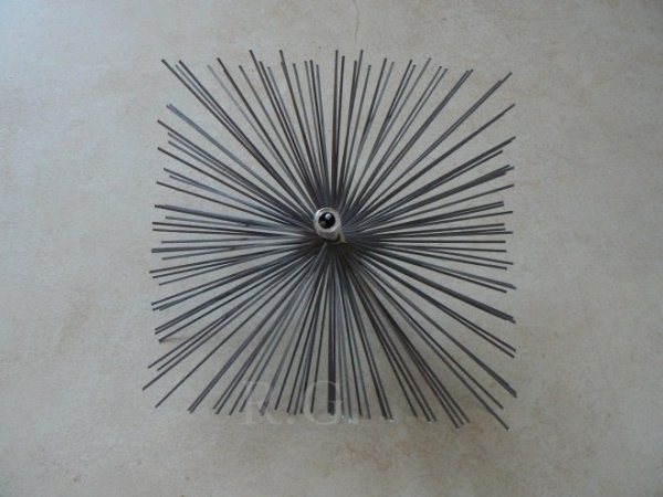 Schornsteinbesen Quadrat Kaminbesen aus Stahl 16 x 16cm