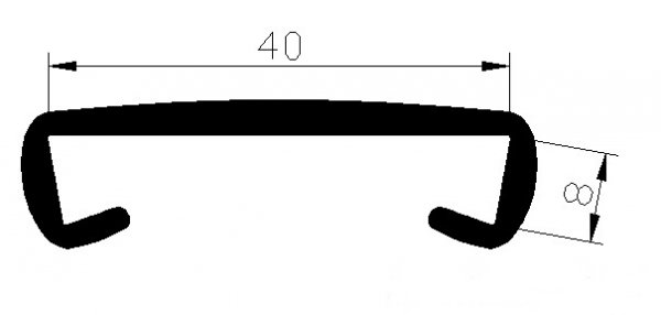 Handlauf Kunststoffhandlauf PCV Geländer 40x8 Farbe Beige