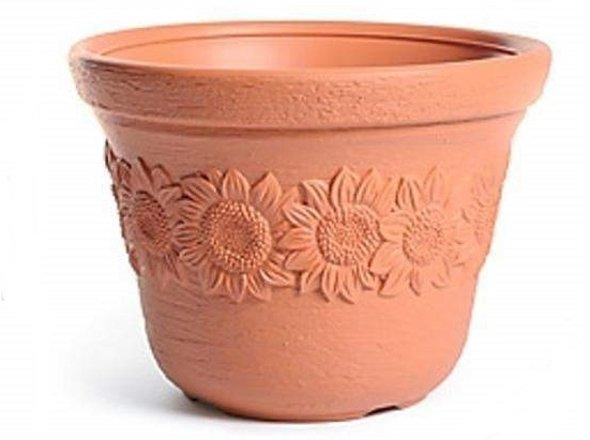 Blumentopf Pflanztopf Massiv sunny 35 terrakotta