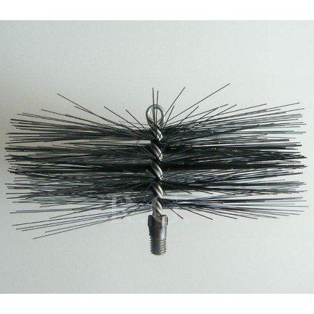 Reinigungsset Kaminbesen 20cm aus Stahl und Schubstange 8m