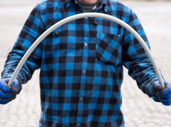 Schubstange Flexibel Putzstab 100 cm M12 Grau