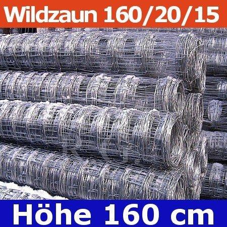 Wildzaun Forstzaun Weidezaun 160/20/15 50 Meter