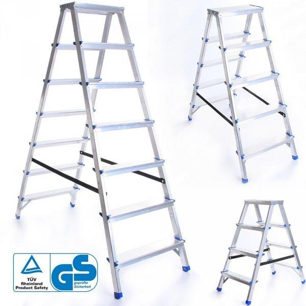 Leiter Aluleiter Zweiseitige Klappleiter 2 Stufen