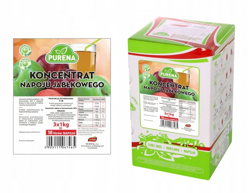 Napój jabłkowy koncentrat 18l/3kg