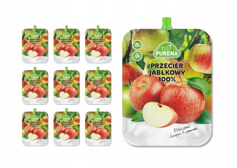 Przecier (mus) owocowy z jabłek  350g x 10 szt