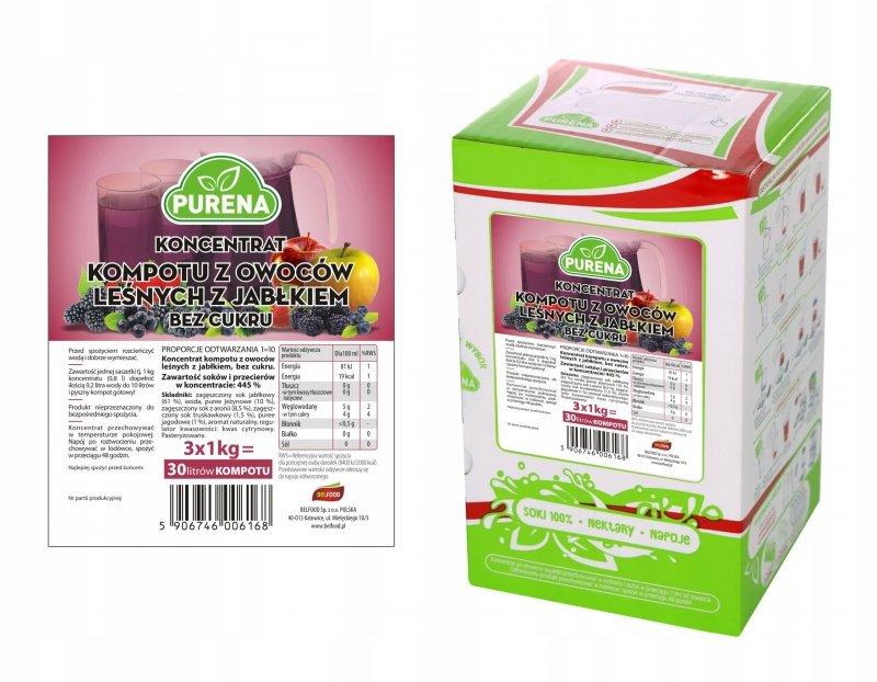 Kompot z owoców leśnych b/c koncentrat 30l/3kg