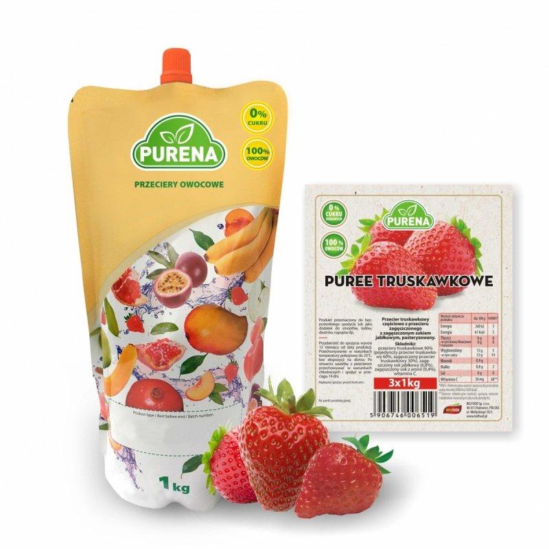 Pulpa (puree) truskawkowa b/c 1kg