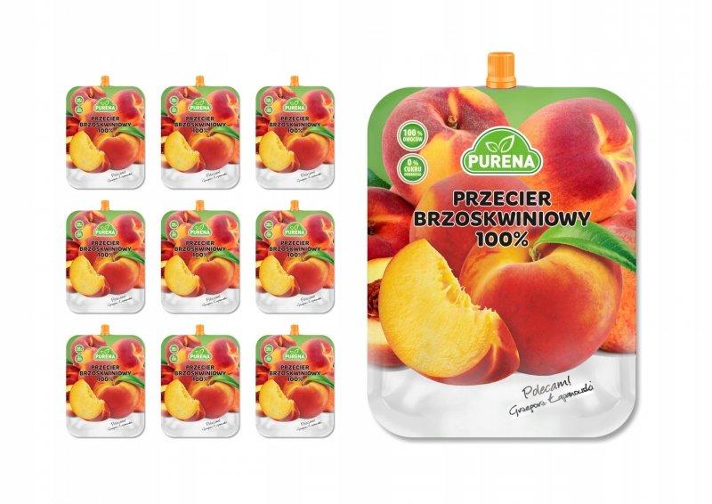 Przecier brzoskwiniowy 100% PURENA 350 g x 10 szt