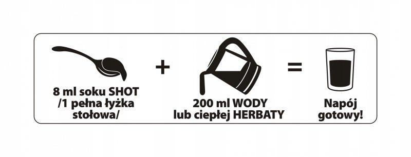 Sok z imbiru i cytryny 100% SUPER SHOT 200ml = 5l