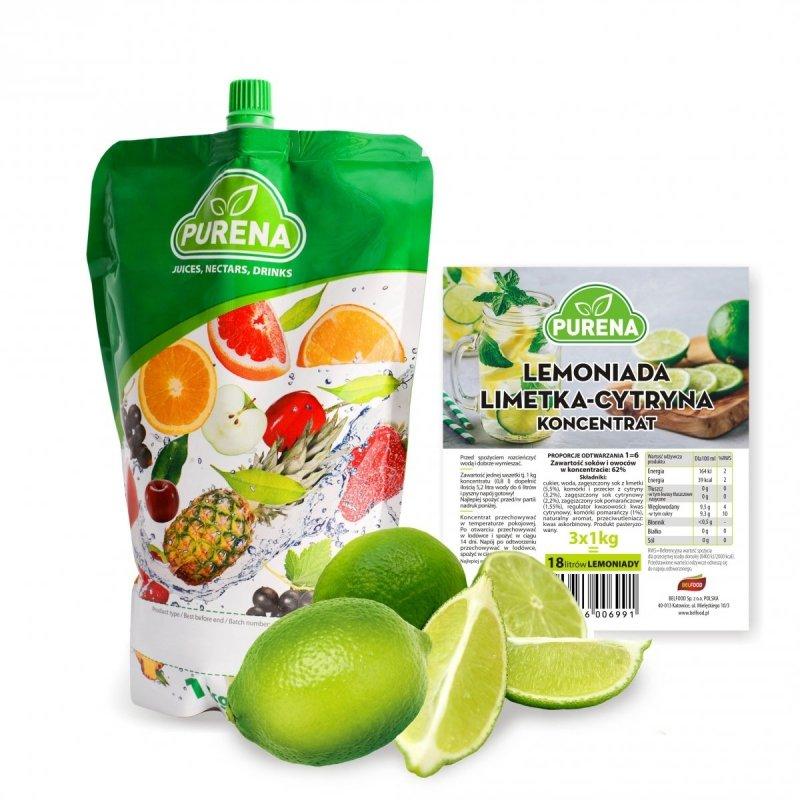 Lemoniada limetka-cytryna koncentrat 6l/1kg
