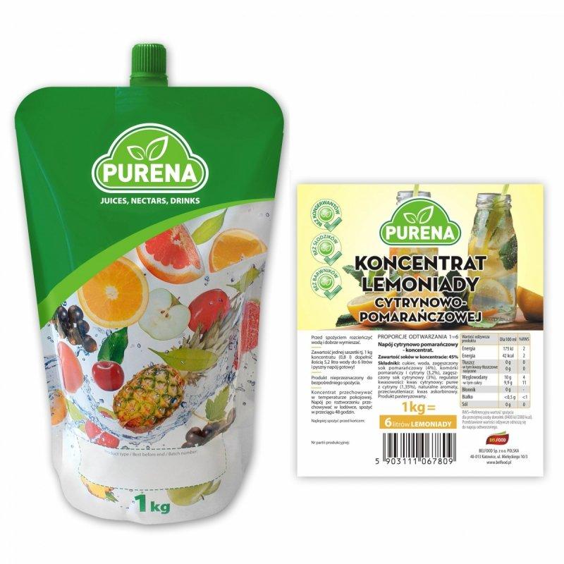Lemoniada cytrynowo - pomarańczowa koncentrat 6l/1kg