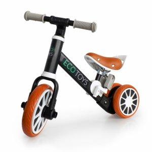 Fahrrad, Langlaufrad, Aufsitzrad mit Pedalen 2in1, schwarz