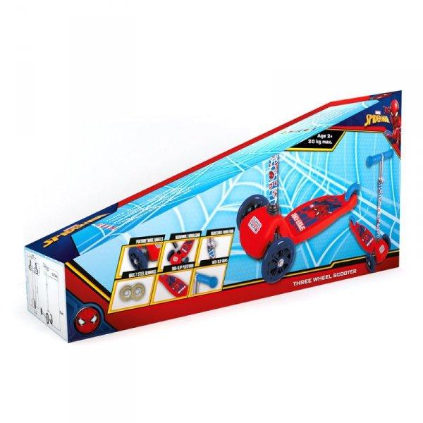 Kinderroller Dreirad SPIDERMAN Scooter 3 Räder verstellbar Dreiradscooter ABEC-7