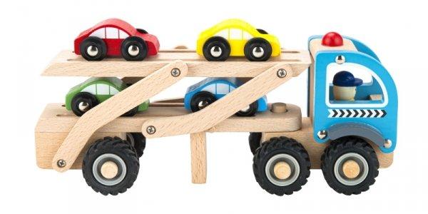 Hölzerner Spielzeuglastwagen Abschleppwagen 4 Autofedern