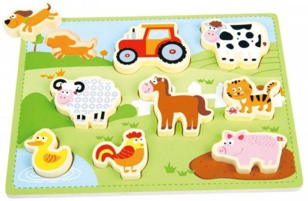 Steckpuzzle FARM 3D Kleinkind Setzpuzzle Bauernhof