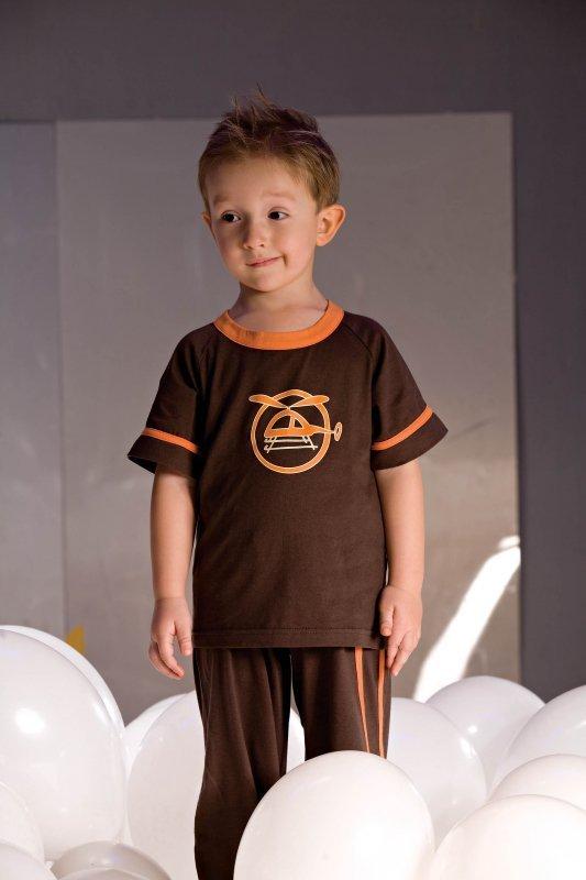 Piżamka chłopięca Noe 2975 brązowa