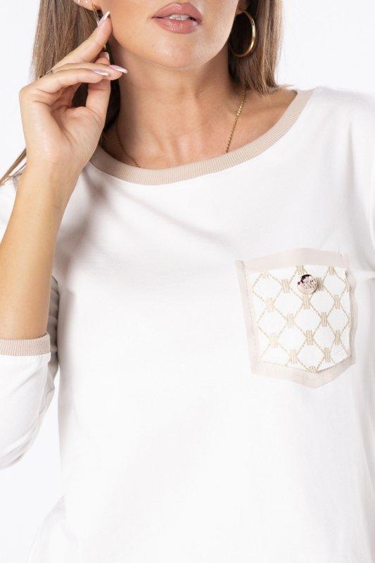 Bluzka Adelaide Pocket M80879 Cream