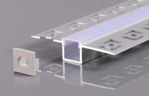 Profil do taśmy LED podtynkowy do gipsowania 2m.