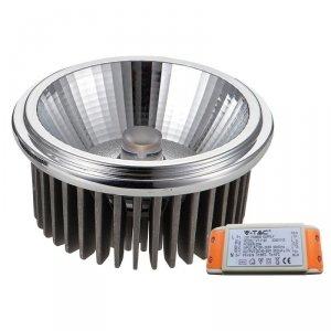 Żarówka LED V-TAC AR111 20W 230V 20st COB z zasilaczem VT-1120 4000K 1500lm