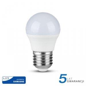 Żarówka LED V-TAC SAMSUNG CHIP 5.5W E27 G45 Kulka VT-246 6400K 470lm 5 Lat Gwarancji