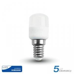 Żarówka LED V-TAC SAMSUNG CHIP 2W E14 Tablicowa Do Lodówek ST26 VT-202 6400K 180lm 5 Lat Gwarancji