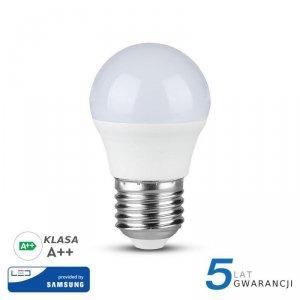 Żarówka LED V-TAC SAMSUNG CHIP 4.5W E27 A++ Kulka G45 VT-245 4000K 470lm 5 Lat Gwarancji