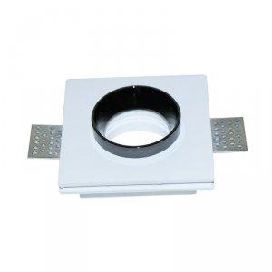 Oprawa Oczko V-TAC GIPS GU10 Kwadrat Wpuszczana G-K Biały+Czarny VT-866 5 Lat Gwarancji