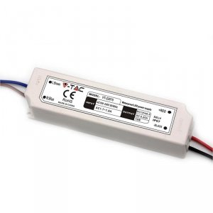 Zasilacz LED V-TAC 75W 12V 6.25A IP67 Hermetyczny Filtr EMI VT-22075