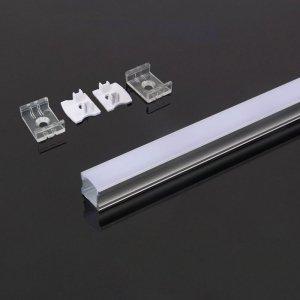 Profil Aluminiowy V-TAC 2mb Anodowany, Klosz Mleczny VT-8110