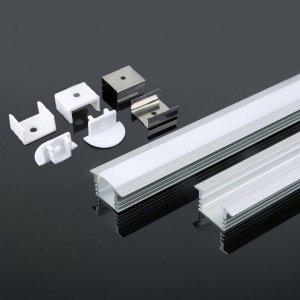 Profil Aluminiowy V-TAC 2mb Anodowany, Klosz Mleczny, Wpuszczany VT-8115
