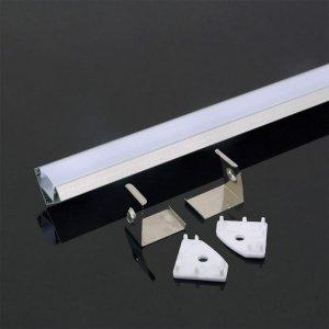 Profil Aluminiowy V-TAC 2mb Biały, Klosz Mleczny, Kątowy VT-8114-W 5 Lat Gwarancji