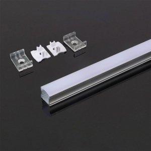 Profil Aluminiowy V-TAC 2mb Biały, Klosz Mleczny VT-8110-W 5 Lat Gwarancji