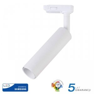 Oprawa 7W LED V-TAC Track Light SAMSUNG CHIP CRI90+ Biała VT-407 4000K 420lm 5 Lat Gwarancji