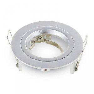 Oprawa Oczko V-TAC Aluminiowa Odlew GU10 Okrągła Srebrno Szary VT-774