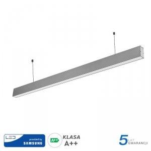 Oprawa V-TAC LED Linear SAMSUNG CHIP 40W Do łączenia Zwieszana Szara 120cm VT-7-40-S 4000K 3200lm 5 Lat Gwarancji