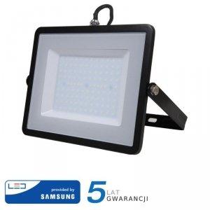 Projektor LED V-TAC 100W SAMSUNG CHIP Czarny VT-100 6400K 8000lm 5 Lat Gwarancji