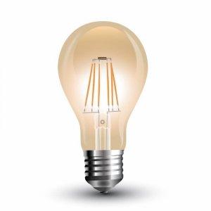 Żarówka LED V-TAC 4W Filament E27 A60 Bursztyn VT-1954 2200K 350lm