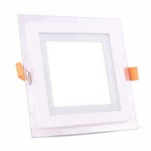 Panel LED V-TAC 12W LED Szkło Kwadrat VT-1202G 6000K 840lm