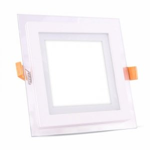 Panel LED V-TAC 18W LED Szkło Kwadrat VT-1881G 6000K 1260lm