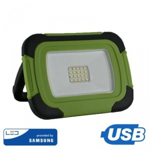 Projektor LED V-TAC 20W Ładowalny USB SAMSUNG CHIP Funkcja SOS 3,7V Li-Ion IP44 VT-20-R 6400K 1400lm