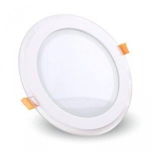 Panel LED V-TAC 12W LED Szkło Okrągły VT-1202G 4000K 840lm