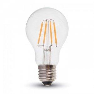 Żarówka LED V-TAC 4W Filament E27 A60 Przezroczysta VT-1885 6400K 400lm