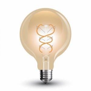 Żarówka LED V-TAC 5W Filament E27 Kula G95 Złota VT-2075 2200K 300lm