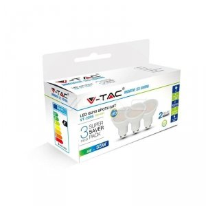 Żarówka LED V-TAC 5W GU10 SMD (Opak. 3szt) VT-2095 3000K 400lm
