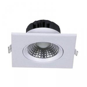 Oprawa Oczko 5W LED V-TAC Downlight Kwadrat Regulowany Kąt Biały VT-1100 3000K 350lm