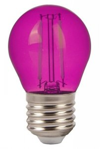 Żarówka LED V-TAC 2W Filament E27 Kulka G45 VT-2132 Różowy 60lm