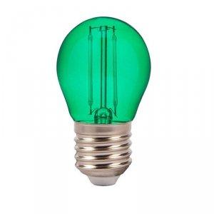 Żarówka LED V-TAC 2W Filament E27 Kulka G45 VT-2132 Zielony 60lm