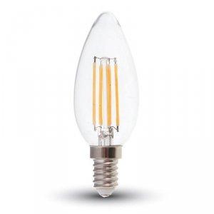 Żarówka LED V-TAC V-TAC 6W Filament E14 Przezroczysta Świeczka VT-2127 3000K 600lm